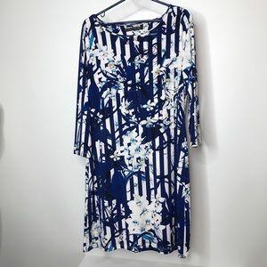Ivanka Trump Dress Size Medium Striped Floral